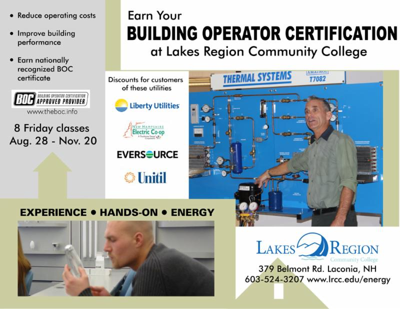 Lakes Region Community College Fall BOC course schedule announced ...