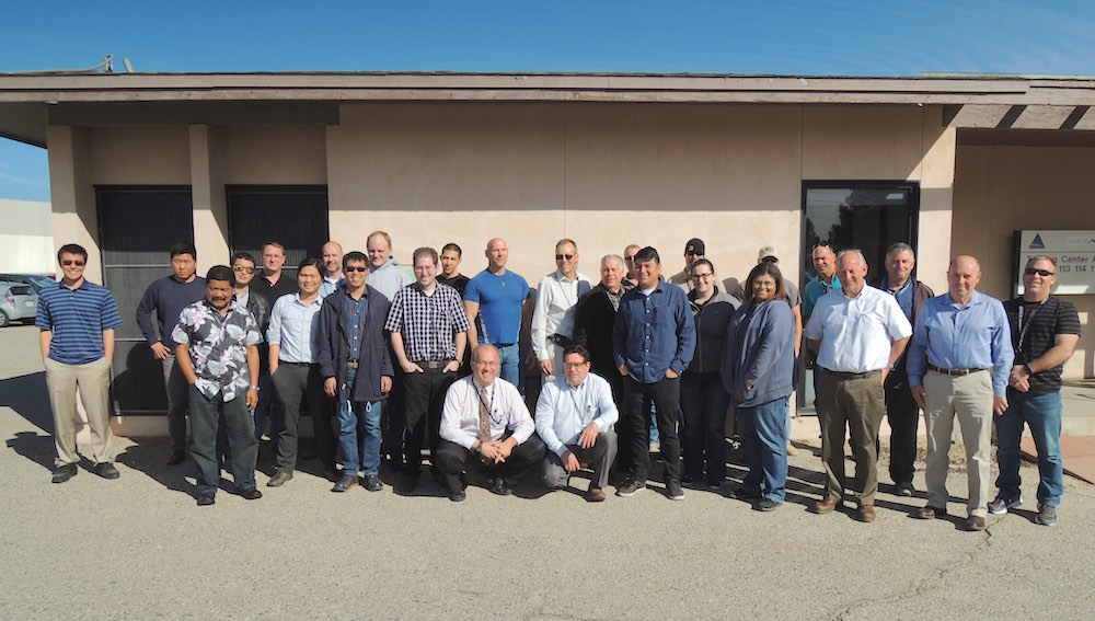 Group photo of NAVAIR China Lake BOC Level I participants and instructor Duane Lewellen